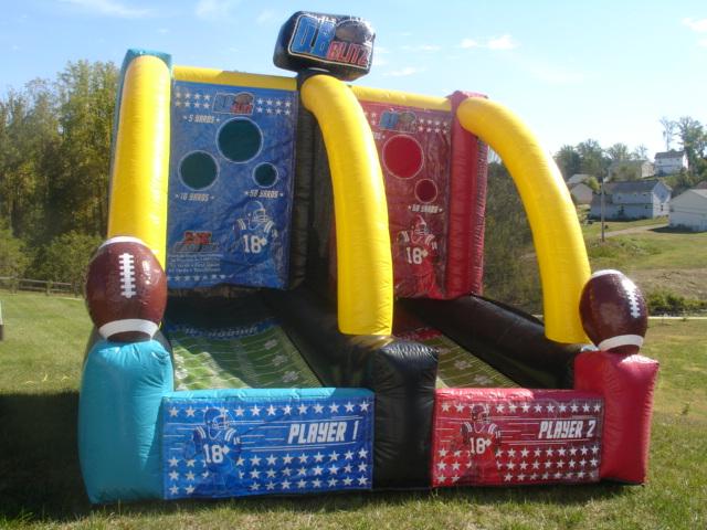 inflatable quarterback blitz inflatable quarterback blitz sport games