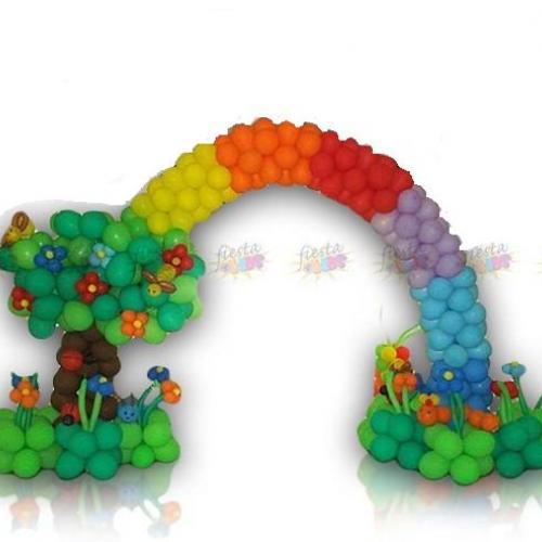 Rainbow decoration balloon arch fiesta4kids
