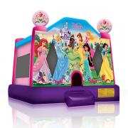castle inflatable bounce house, disney princess gala